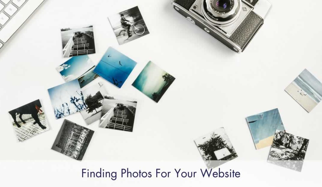 Finding photos for your website
