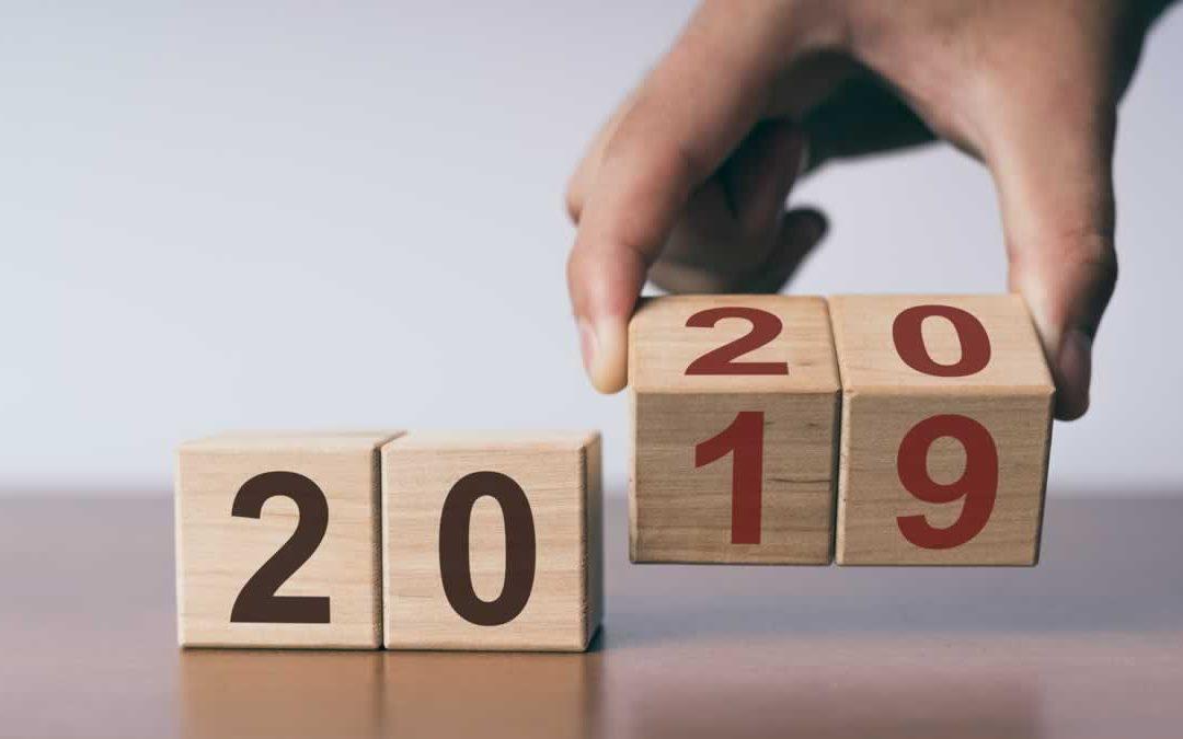 2019 turning to 2020
