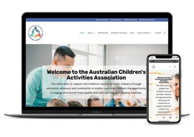 Australian Childrens Activities Association Website