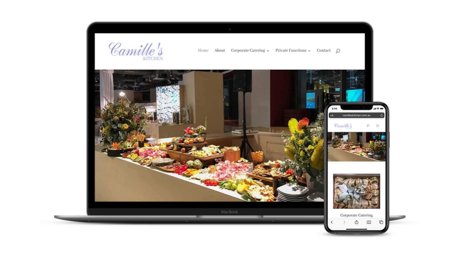 Camilles Kitchen website