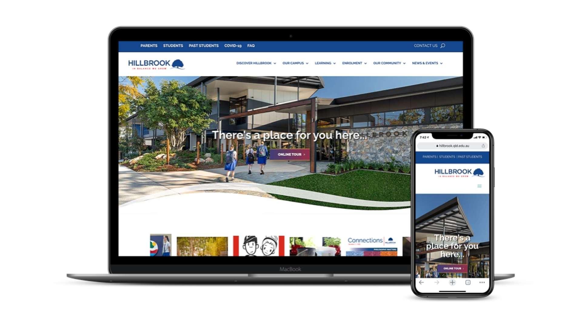 Hillbrook Website Redevelopment