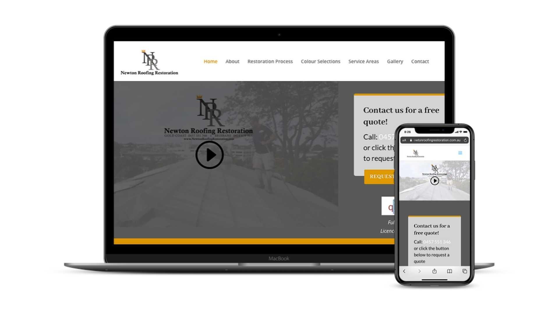 Newton Roofing Restorations Website