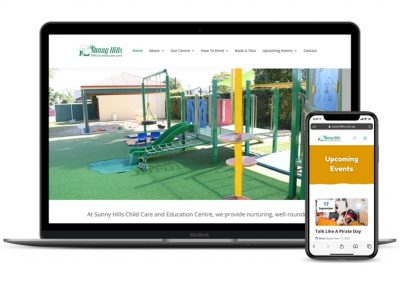 Sunny Hills Child Care and Education Centre Website