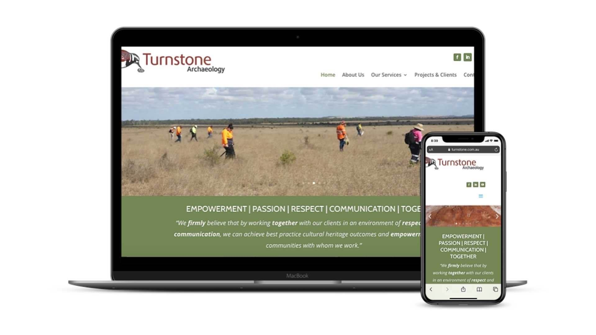 Turnstone Archaeology website